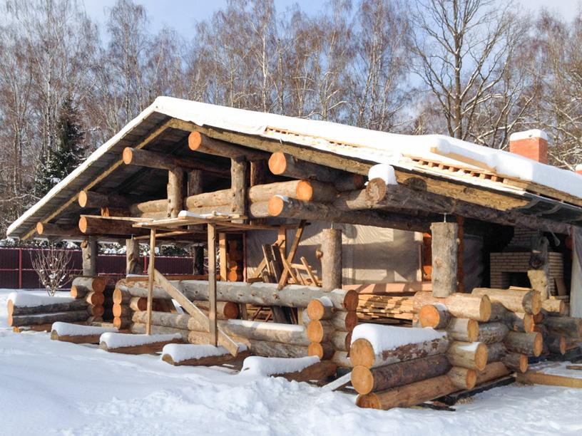 Баня в деревне Фоминское Московской области. Артель «Данила, Макар и братья»