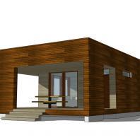 Проект сауны с террасой ECS. 81 м². Разработан: АФ-студия
