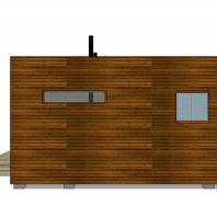 Проект сауны EES. 48 м². Фасад. Разработан: АФ-студия