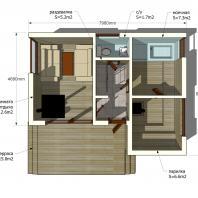 Проект сауны EES. 48 м². Интерьер. Разработан: АФ-студия