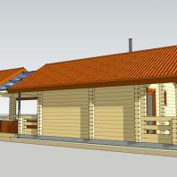 Проект модульного банного комплекса (баня, бассейн, зона барбекю). АФ-студия. Архитектор Дмитрий Антонов