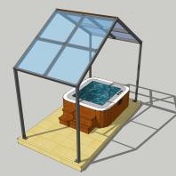 Проект модульного банного комплекса (бассейн). АФ-студия. Архитектор Дмитрий Антонов