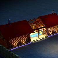 Проект бани с досуговым комплексом. Разработан: АФ-студия