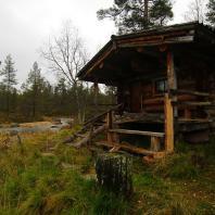 Сауна на реке Anterinjoki. Национальный парк Urho Kekkonen. Финляндия. Фото: Gregor Samsa