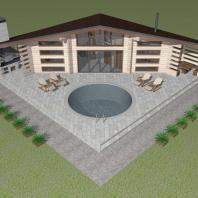 Проект банного комплекса «Жар-птица». Архитектор: Сергей Косинов. Новосибирск