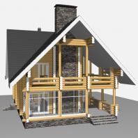 Проект гостевого дома с банным комплексом. Архитектор Сергей Косинов