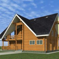 Проект гостевого дома с банным комплексом