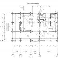 Проект гостевого дома с банным комплексом. План 1-го этажа. Архитектор Сергей Степанов