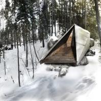 """Дымная сауна """"Koe"""". Университет Аалто, Финляндия"""