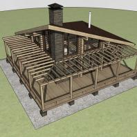 Проект банного комплекса «Байкал». Архитектор: Сергей Косинов