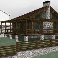 Проект сауны с террасой. Архитектор Сергей Косинов