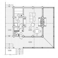 Проект сауны с террасой. План. Архитектор Сергей Косинов