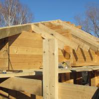 Этапы строительства бани с террасой. Архитектор: Сергей Косинов