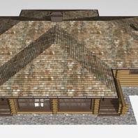 Проект коммерческой бани из рубленого бревна. Архитектор Сергей Косинов