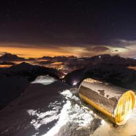 Сауна горной базы Rifugio Lagazuoi. Доломитовые Альпы, Национальный парк Доломити Беллунези, Кортина-д'Ампеццо, Италия. Фото: Guido Pompanin