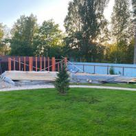 Строительство бани «Ласточка» (каркасный вариант)