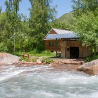 Сакская баня в Кескеленском ущелье, Алматы, Казахстан