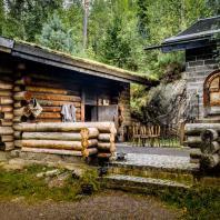 Традиционная финская дымная сауна (savusauna) в Vierumäki
