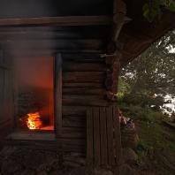 Традиционная финская дымная сауна (savusauna). Фото: MilaMai