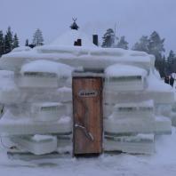 Ледяная сауна. Ruka, Лапландия, Финляндия. Фото: Ezioman