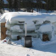 Ледяная сауна. Ruka, Лапландия, Финляндия. Фото: Timo