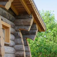 Баня в деревне Большие Решники Московской области. Артель «Данила, Макар и братья»