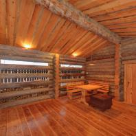 Баня в деревне Новоглаголево Московской области. Артель «Данила, Макар и братья»