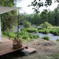Тентовая сауна Timo Sairi. Lehtola, Saarijärvi, Финляндия. Фото: Piltti